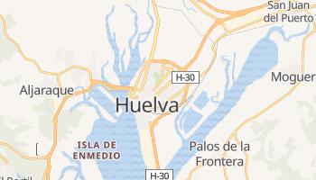 Mapa online de Huelva para viajantes
