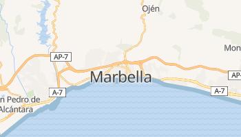 Mapa online de Marbella para viajantes