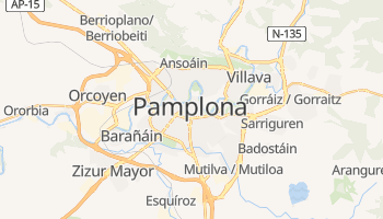 Mapa online de Pamplona para viajantes