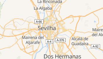 Mapa online de Sevilha para viajantes
