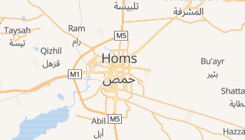 Mapa online de Homs para viajantes