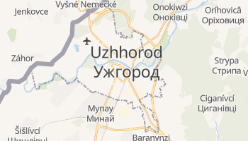 Mapa online de Uzhhorod para viajantes