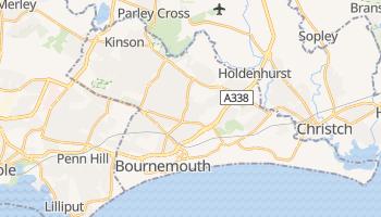 Mapa online de Bournemouth para viajantes