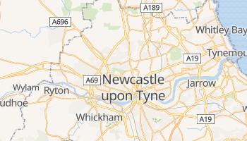 Mapa online de Newcastle upon Tyne para viajantes