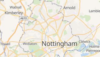 Mapa online de Nottingham para viajantes