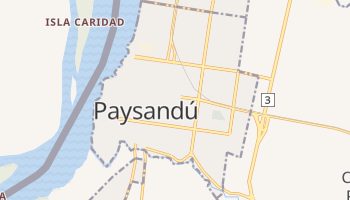 Mapa online de Paysandú para viajantes