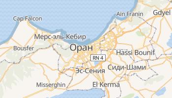 Оран - детальная карта