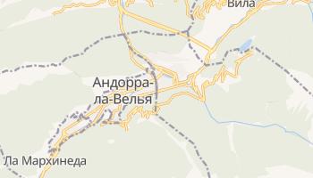 Эскальдес-Энджордани - детальная карта