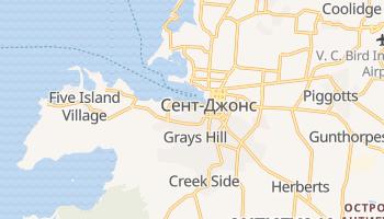 Сент-Джонс (Антигуа) - детальная карта
