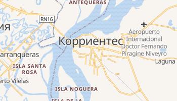 Корриентес - детальная карта