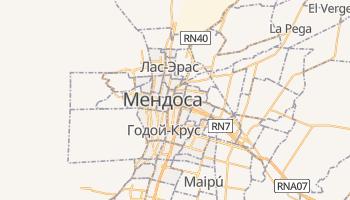 Мендоса - детальная карта