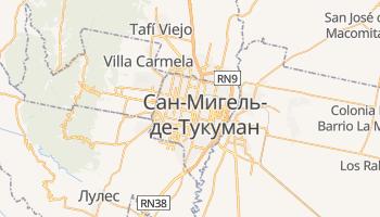 Сан-Мигель-де-Тукуман - детальная карта