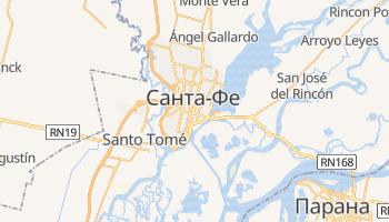 Санта-Фе - детальная карта