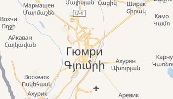 Гюмри - детальная карта