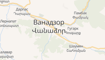 Ванадзор - детальная карта