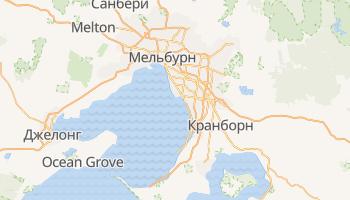 Мельбурн - детальная карта