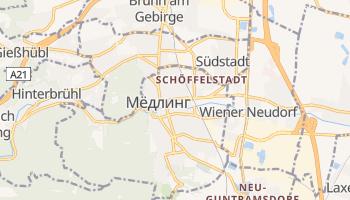 Мёдлинг - детальная карта