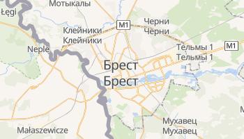 Брест - детальная карта