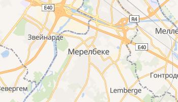 Мерелбеке - детальная карта