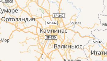 Кампинас - детальная карта