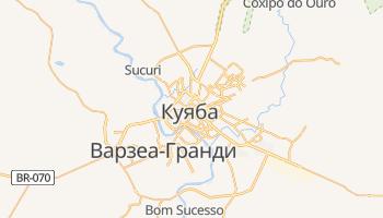 Куяба - детальная карта