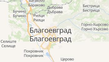 Благоевград - детальная карта