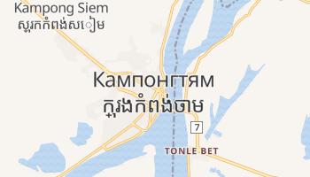 Кампонгтям - детальная карта
