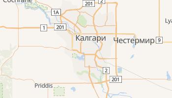 Калгари - детальная карта