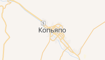 Копьяпо - детальная карта