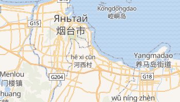 Яньтай - детальная карта