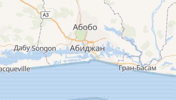 Абиджан - детальная карта