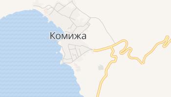 Комижа - детальная карта