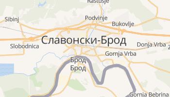 Славонски-Брод - детальная карта