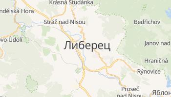 Либерец - детальная карта
