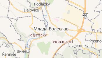 Млада-Болеслав - детальная карта