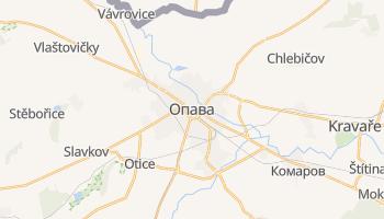 Опава - детальная карта