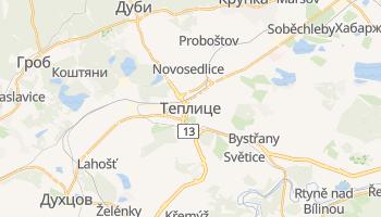 Теплице - детальная карта