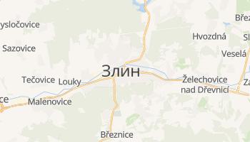 Злин - детальная карта