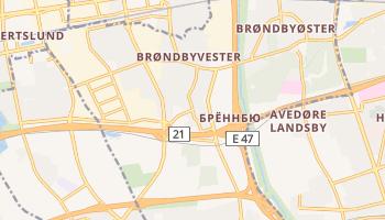 Брённбю - детальная карта