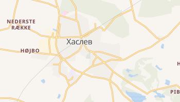 Хаслев - детальная карта