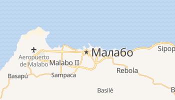 Малабо - детальная карта