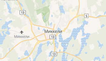 Миккели - детальная карта