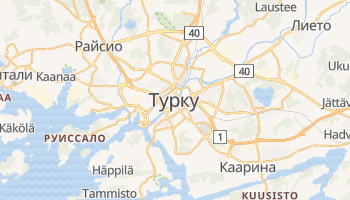 Турку - детальная карта