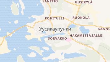 Уусикаупунки - детальная карта