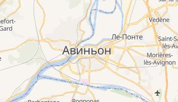 Авиньон - детальная карта