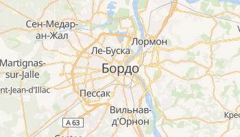 Бордо - детальная карта
