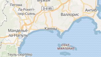 Канны - детальная карта