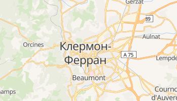 Клермон-Ферран - детальная карта