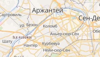 Коломб - детальная карта