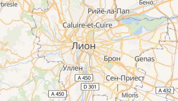 Лион - детальная карта